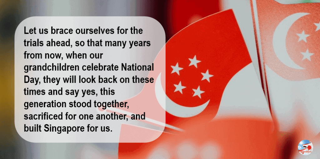 Singaporeans, Let us show the world that whatever the challenges, Singaporeans will stay united, and prevail once more