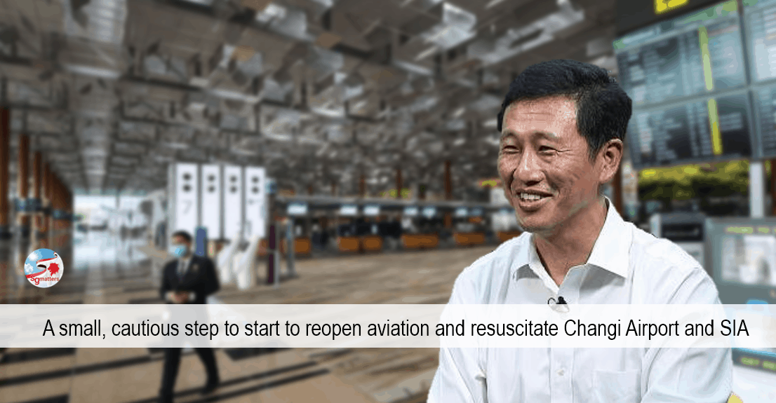 aviation, Unilateral opening of borders signals to world that Singapore is open for business, says Ong Ye Kung