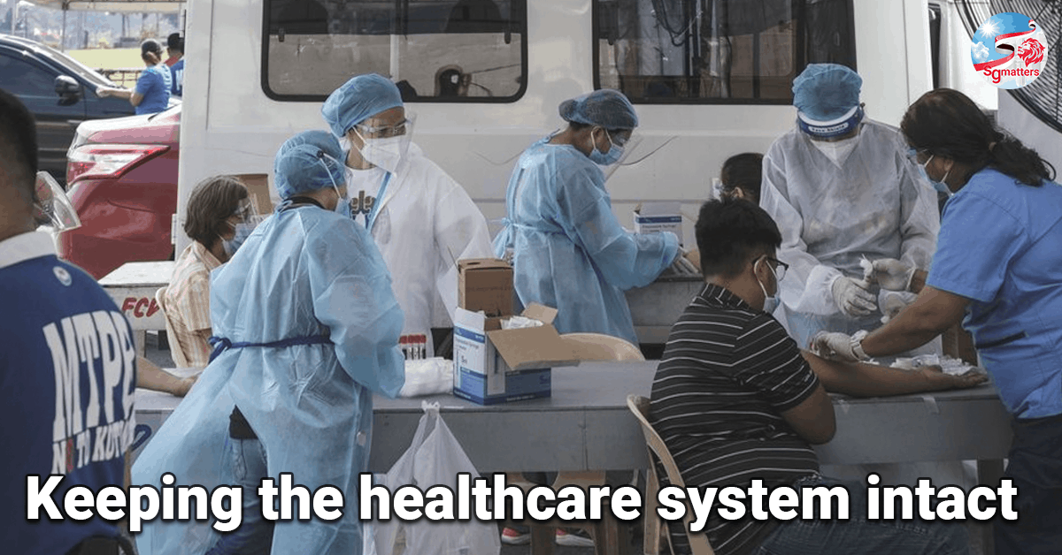 healthcare, Keeping the healthcare system intact: Philippines reported 5000 cases in one day.