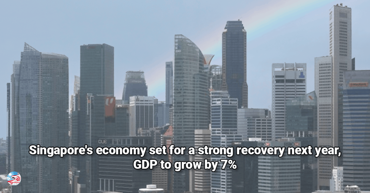 economy, Singapore's economy set for a strong recovery next year, GDP to grow by 7%