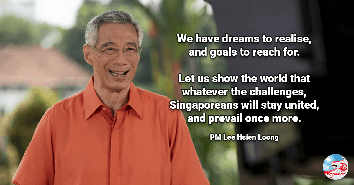 Singaporeans Lee Hsien Loong National Day Message 2020