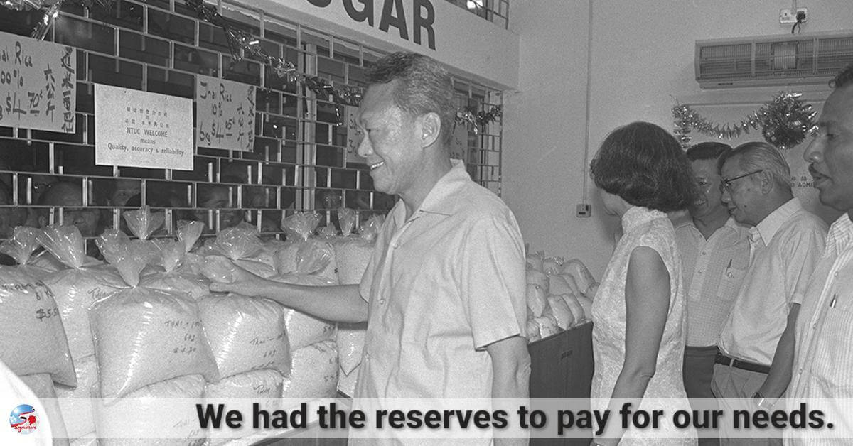 reserves, Strong foreign exchange reserves kept us from starvation: Lee Kuan Yew