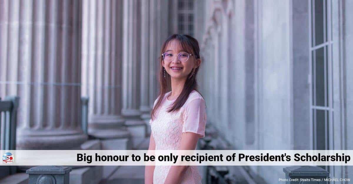 Alyssa Marie Loo, Big honour to be sole recipient of President's Scholarship, says Alyssa Marie Loo