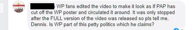 Dennis Tan, Netizens react to WP Dennis Tan's maiden speech on petty politics