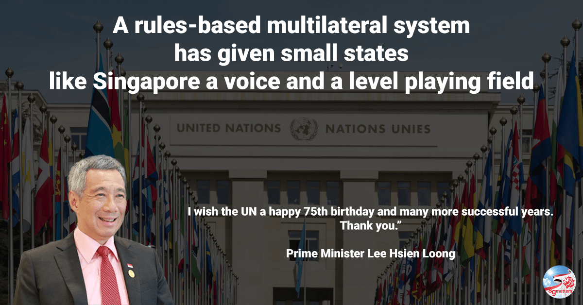 multilateral system, A rules-based multilateral system has given small states like Singapore a voice and a level playing field