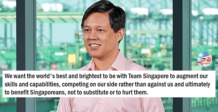 Team Singapore foreign worker policies