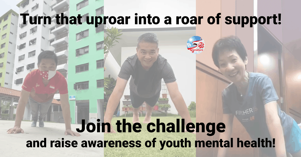 mental health, Turn that uproar into a roar of support! Join the challenge and raise awareness of youth mental health!