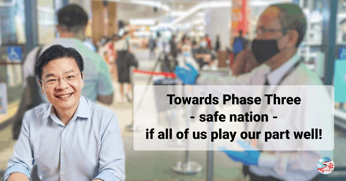 Lawrence Wong Phase three safe nation persons
