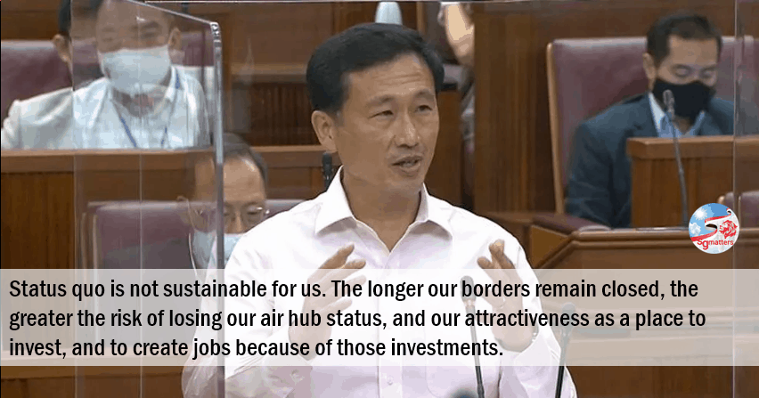 air hub, Ong Ye Kung on steps to climb out of deep abyss in landmark speech in Parliament