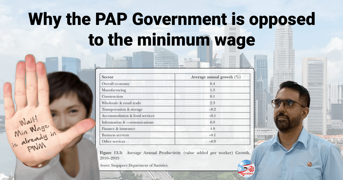 TFP, Why the PAP Government is opposed to the minimum wage: Donovan Choy