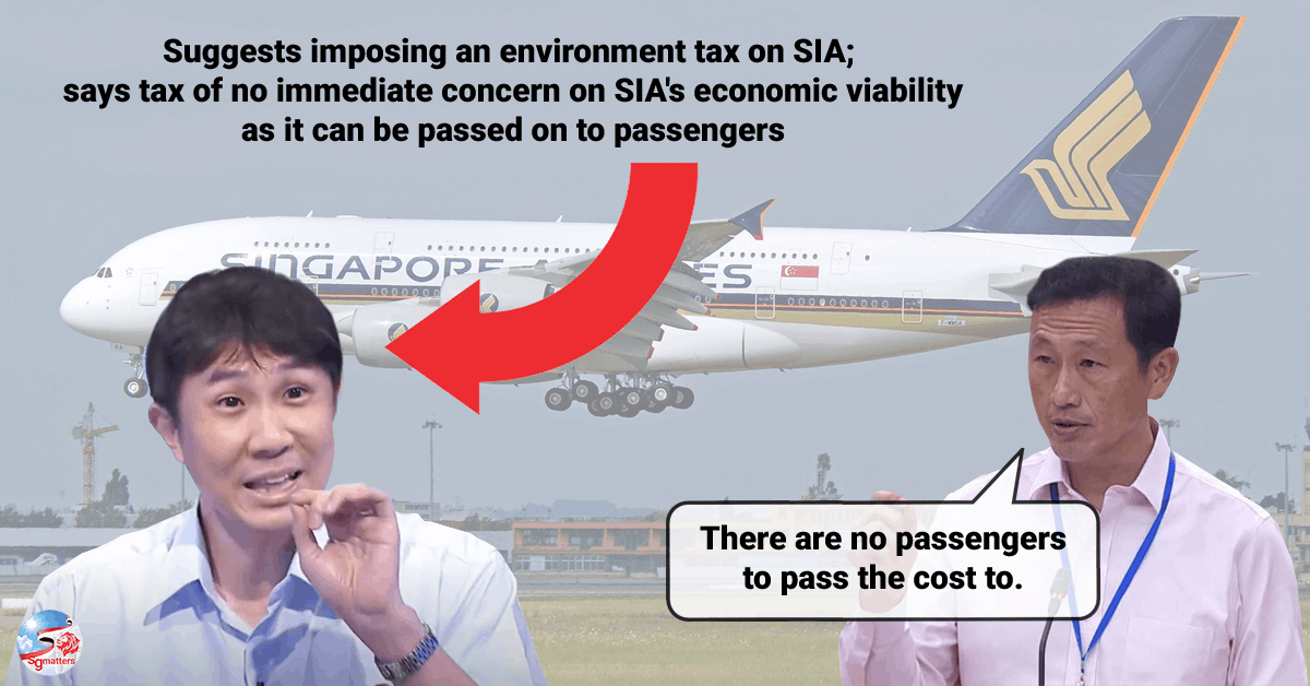Singapore environment tax jamus lim Diversity air hub