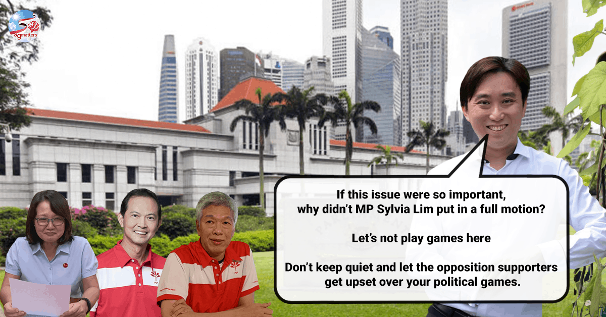 adjournment motion, Adjournment Motion? Let's not play games. Put in a full motion, says Calvin Cheng