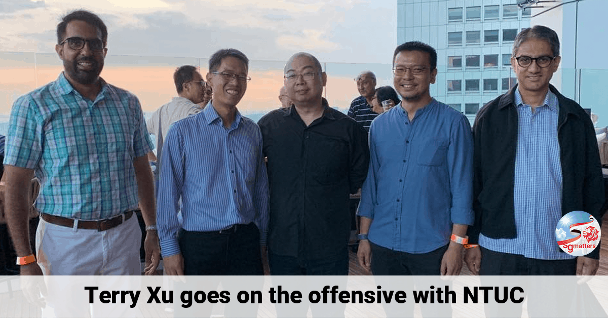 Terry Xu, Terry Xu goes on the offensive with NTUC
