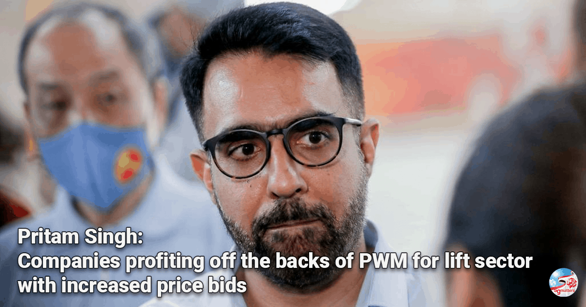 Pritam Singh, Pritam Singh: companies profiting off the backs of PWM for lift sector with increased price bids