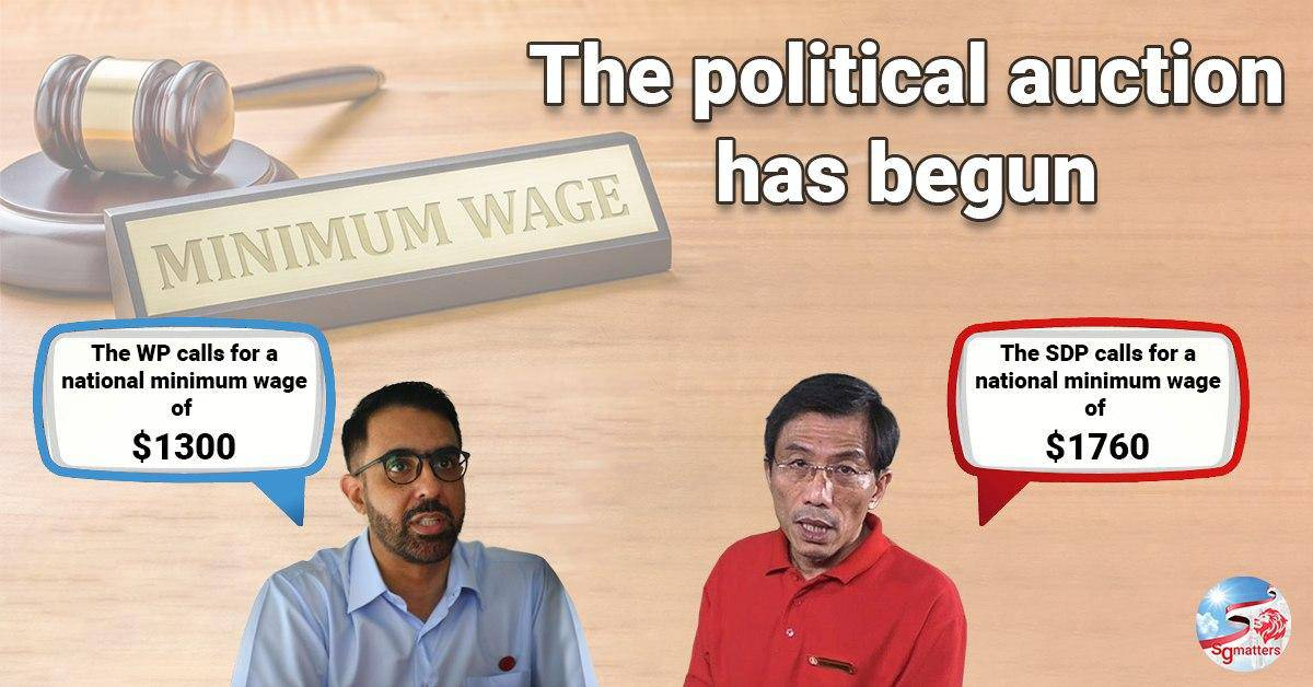political auction, The risk of a political auction in minimum wage is real