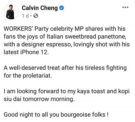 Calvin Cheng, With masterly strokes, Calvin Cheng exposes the hypocrisy of the opposition supporters