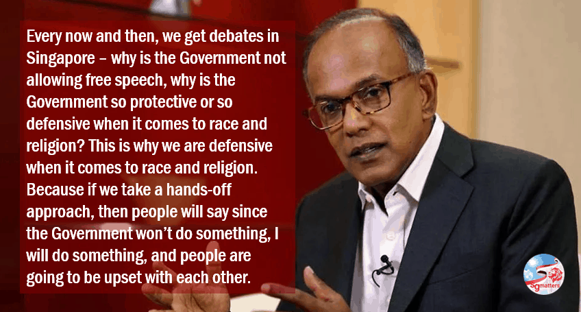 Charlie Hebdo, The Charlie Hebdo cartoonists would have been arrested in Singapore: Shanmugam