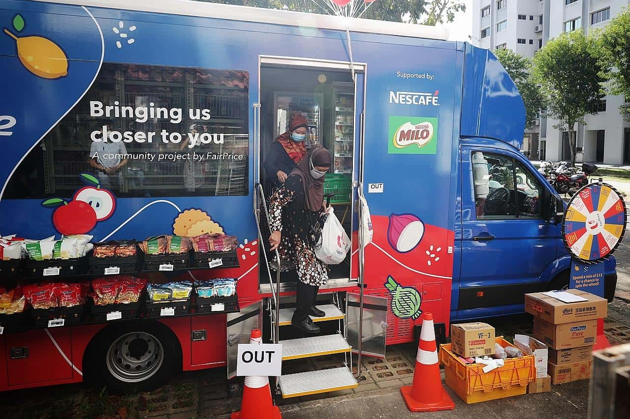 FairPrice on wheels truck