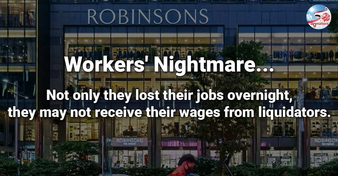 robinsons, Robinsons Closure: Protecting workers during times of distress