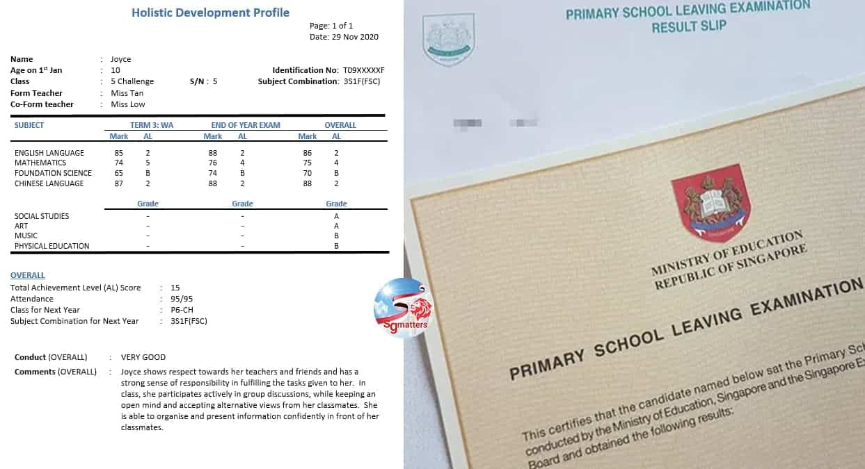 PSLE Primary School Leaving Examination
