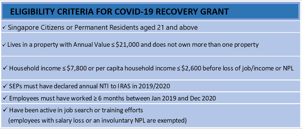 COVID-19 Recovery Grant, COVID-19 Recovery Grant; up to $700 a month for individuals financially impacted by COVID-19