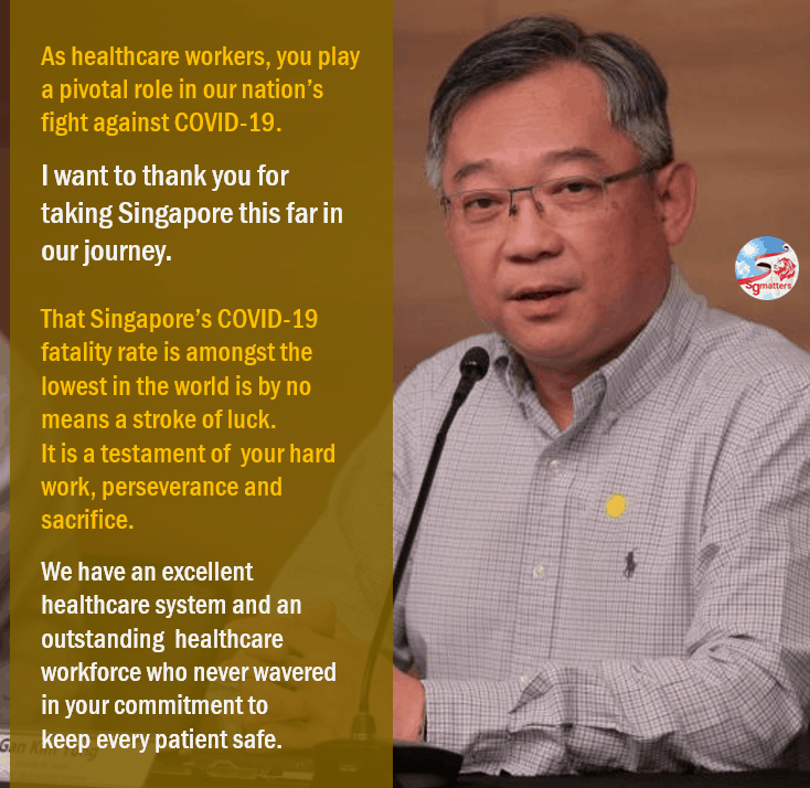 healthcare workers, The pandemic has tested our mettle, but it will not break our resolve and spirit: Gan Kim Yong