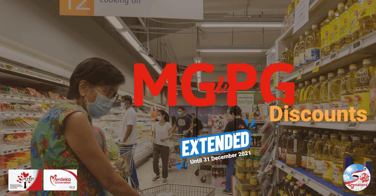 NTUC FairPrice extends PG & MG Discount Schemes Until Dec 2021