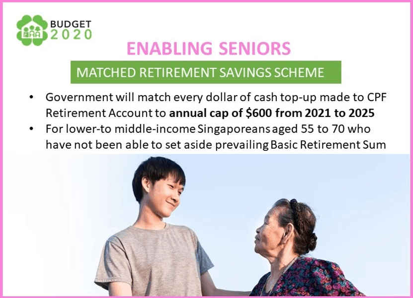 Matched Retirement Savings, Grow your CPF with Matched Retirement Savings Scheme; 440,000 members qualify