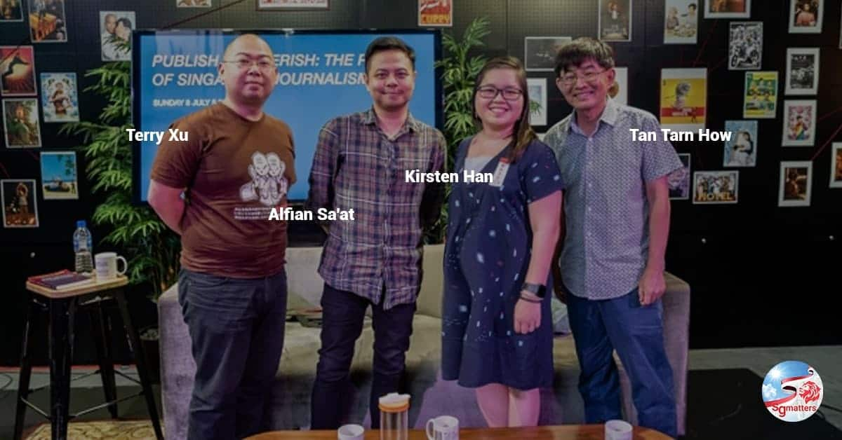 Kirsten Han, Terry Xu, Alfian Sa'at, Tan Tarn How