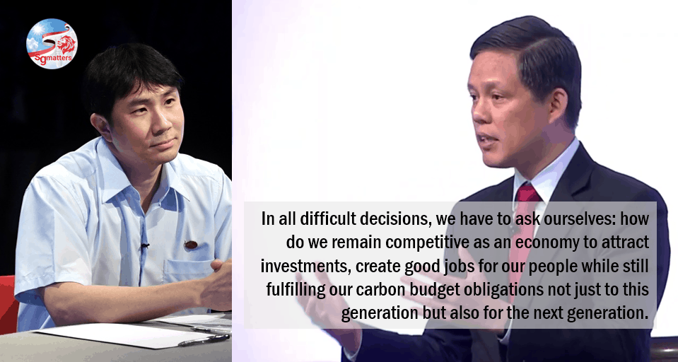 carbon, Chan Chun Sing on carbon footprint and the big petrochemical elephant