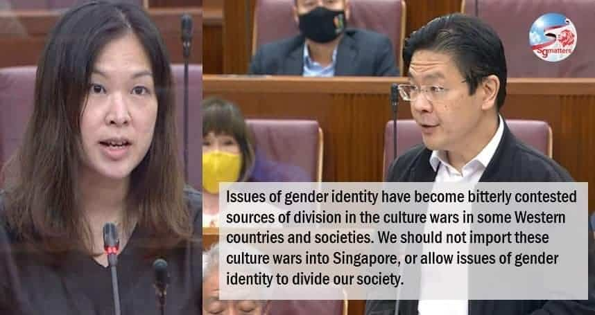 gender identity, Don't import culture wars or allow issues of gender identity to divide our society: Lawrence Wong
