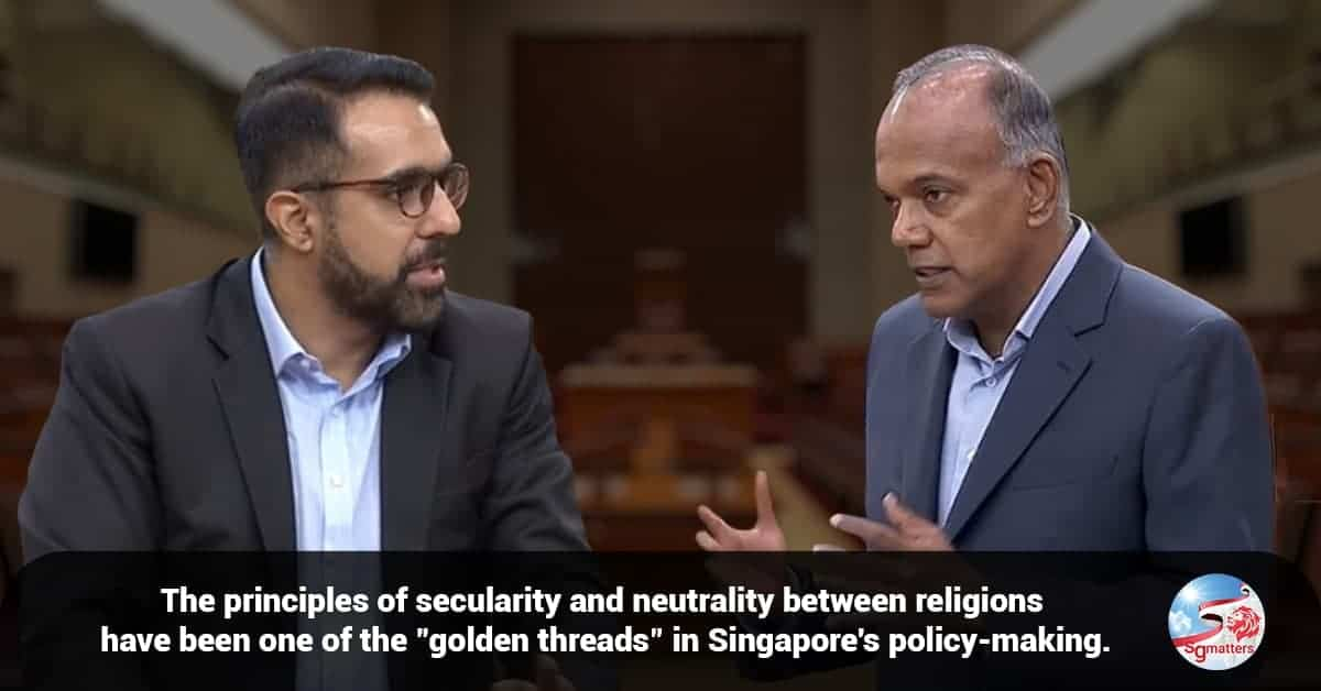 multi religious singapore, No particular religious group is favoured when public policy is being formulated: Shanmugam