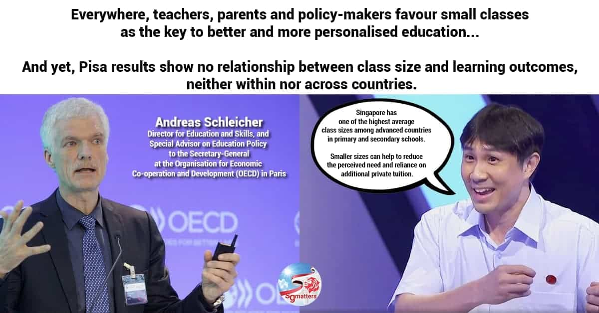 No relationship between class size and learning outcomes said oecd singapore