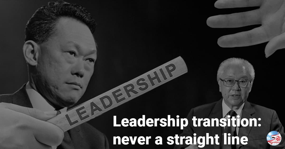 Leadership transition: never a straight line