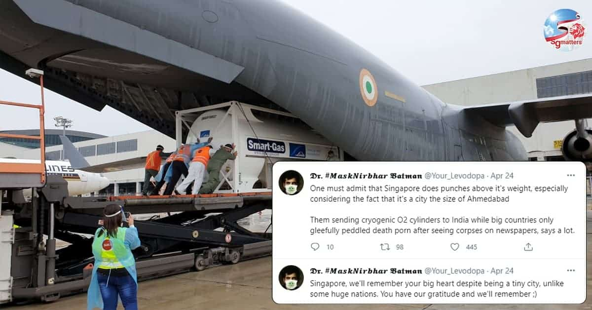 Temasek responds to critical shortage of oxygen, essential supplies in India