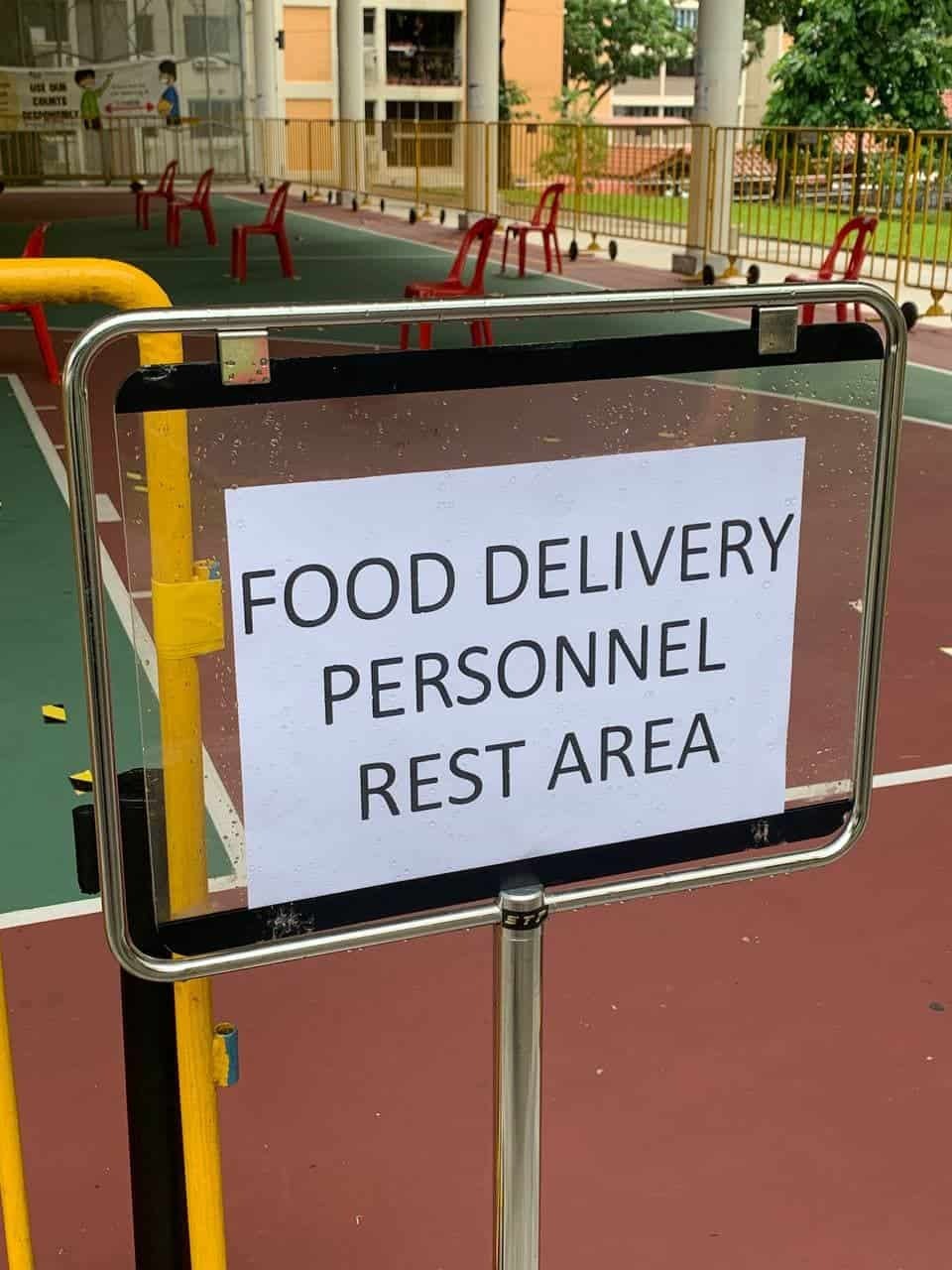 food delivery, Rest stops for drivers are available!
