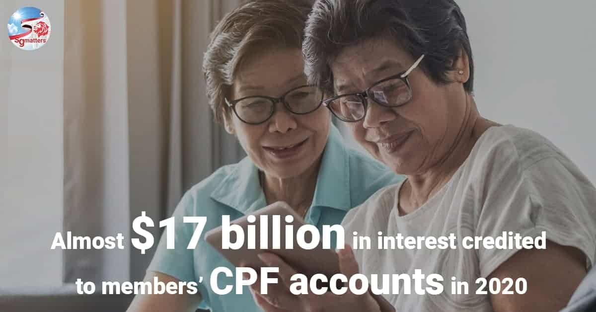 Almost $17 billion in interest credited to members' CPF accounts in 2020