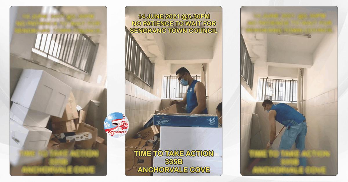 Sengkang GRC resident rolls up his sleeve and turns neighbourhood cleaner
