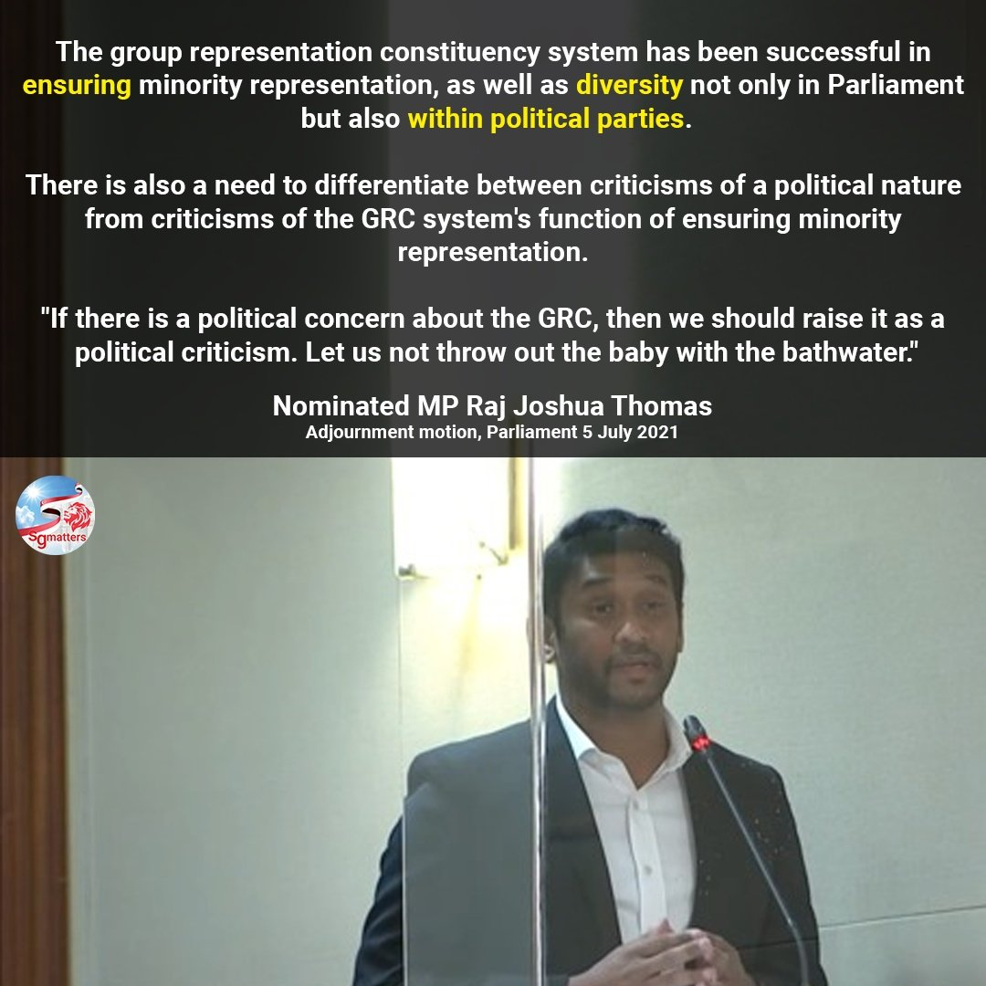 GRC, The GRC system keeps political parties multiracial. Keep it, not abolish it.