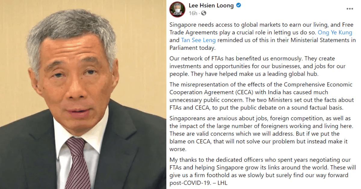 FTAs, PM Lee: Our network of FTAs has benefited us enormously.