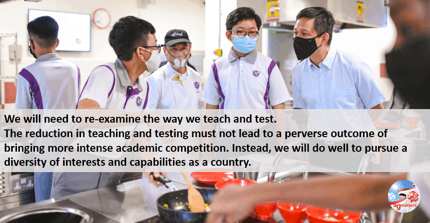 diversity in education, Diversity is key to alleviating the unhealthy stress of pursuing the same definition of success: Chan Chun Sing