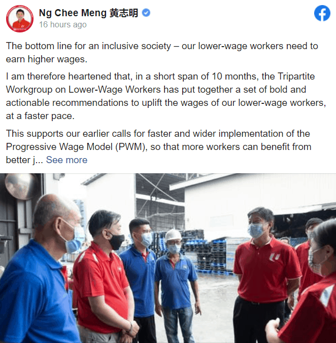 National Day Rally, This year's National Day Rally speech paid special attention to workers. It's important to understand why.