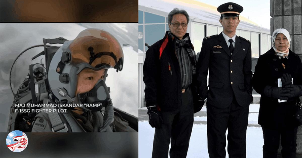 F-15SG fighter pilot Muhammad Iskandar took to the sky on NDP 2021