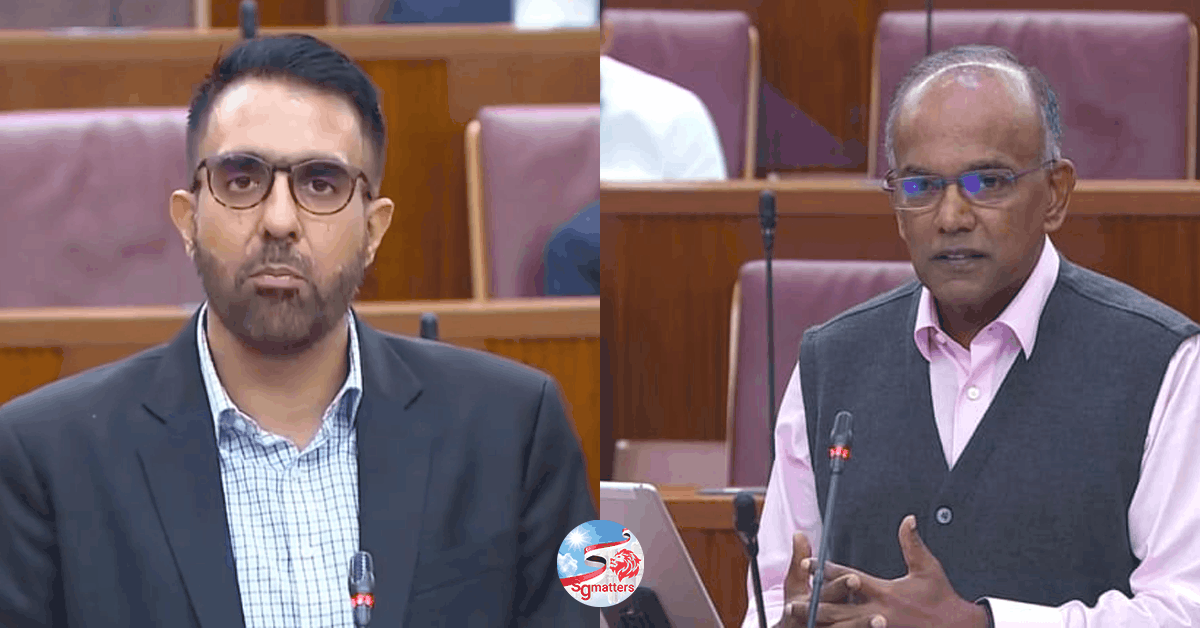 FICA, FICA: Shanmugam disappointed there was no debate from WP on issues he raised